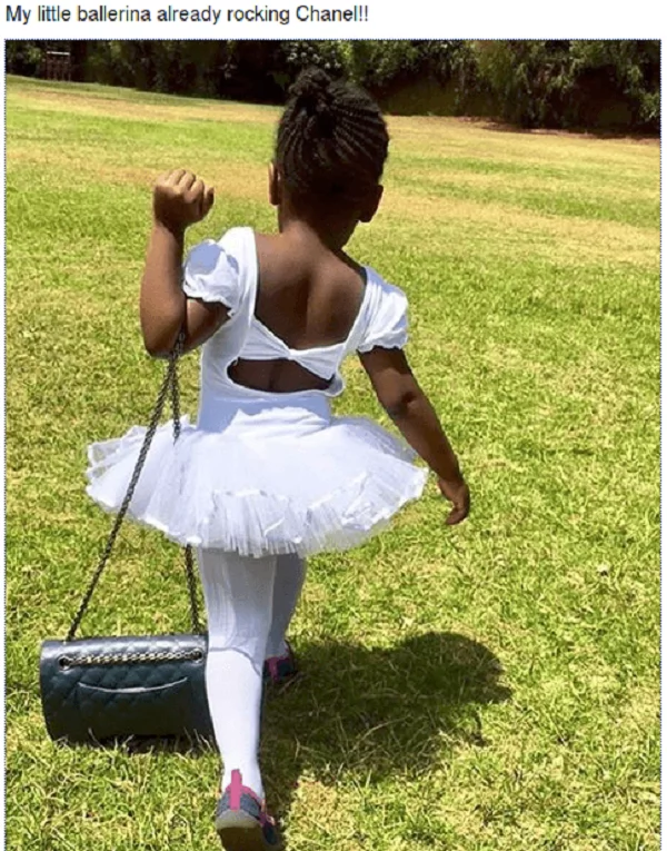 Betty Kyalo daughter with KSh 90k hand bag