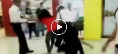 Furious Pinay wife brutally attacks husband's girlfriend in Market! Market! mall in Taguig