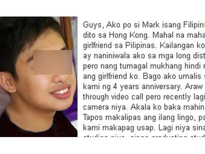 Niloko ako ng girlfriend ko, maniniwala pa ba ako?- Hong Kong OFW Netizen humihingi ng tulong sa problema ng puso.