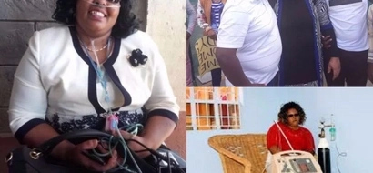 Gladys Kamande who was blind, depended on artificial OXYGEN has this HEARTWARMING message to Kenyans (video)