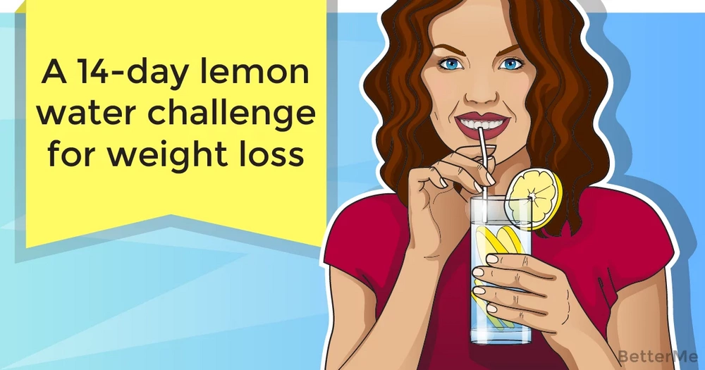 A 14-day lemon water challenge to lose weight