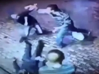 CCTV Captures Moment Old Man Knocks Out Two Punks Who Were Trying To Rob Him