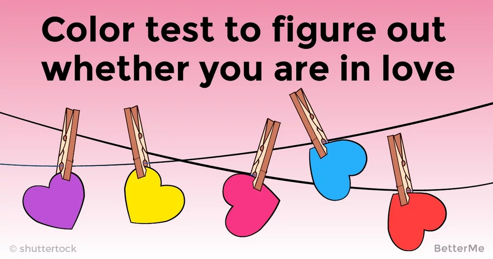 Color test to figure out whether you are in love
