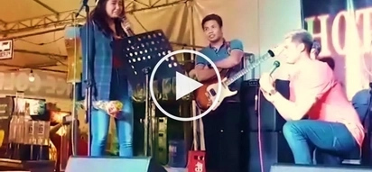 Filipina singer breaks down as she rejects romantic suitor onstage in Makati City