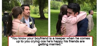 Tears of joy! Jessy posts photo of emotional Luis at Anne's wedding