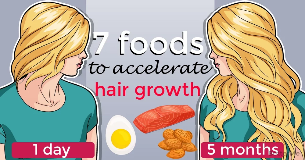 7 foods that can accelerate hair growth
