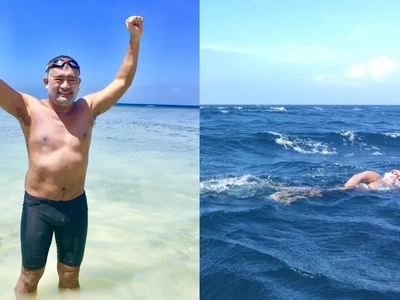 'Pinoy Aquaman' swims from Limasawa to Southern Leyte due to these heartwarming reasons