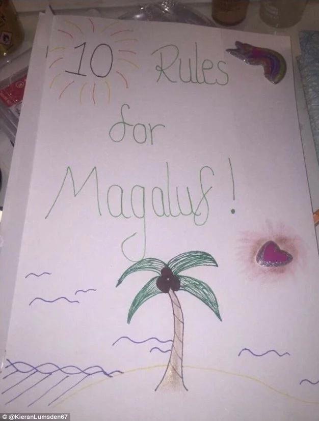 Su novia le hizo un manual de reglas para su viaje con amigos