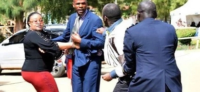 Politician twist female journalist's hand during fight (Photos)