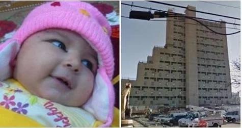 Bebé de seis meses murió al caer con su coche por el hueco del ascensor