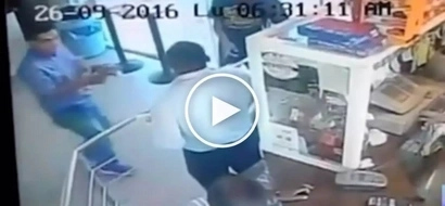 Barilan sa shop! Heroic security guard gets into deadly gunfight with dangerous robbers