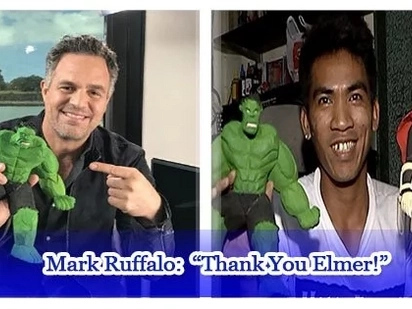 Avengers star Mark Ruffalo thanked Elmer PAdilla for his extraordinary gift.