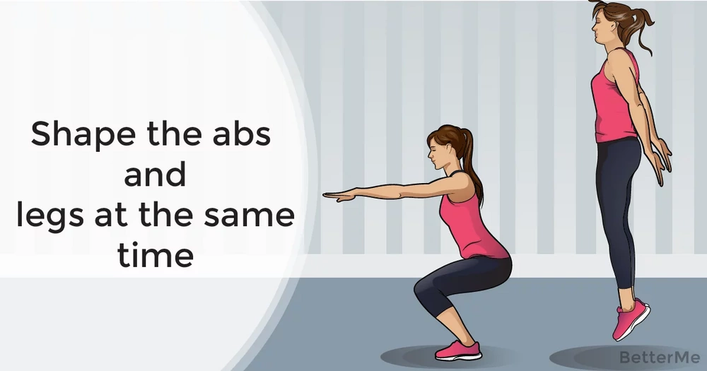 Shape the abs and legs at the same time