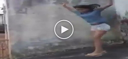 Nakakaawang nakakatawa! Clumsy Pinay teen suffers embarrassing accident while posing for camera