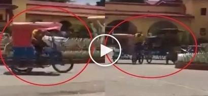 Hala kawawa naman! Netizen captures Pinoy version of Fast and Furious