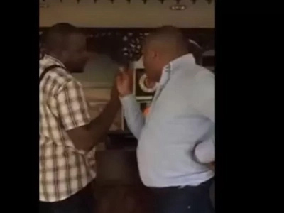 After Raila's ally beating up Somali minister, Jubilee millionaire caught in hotel fight(video)