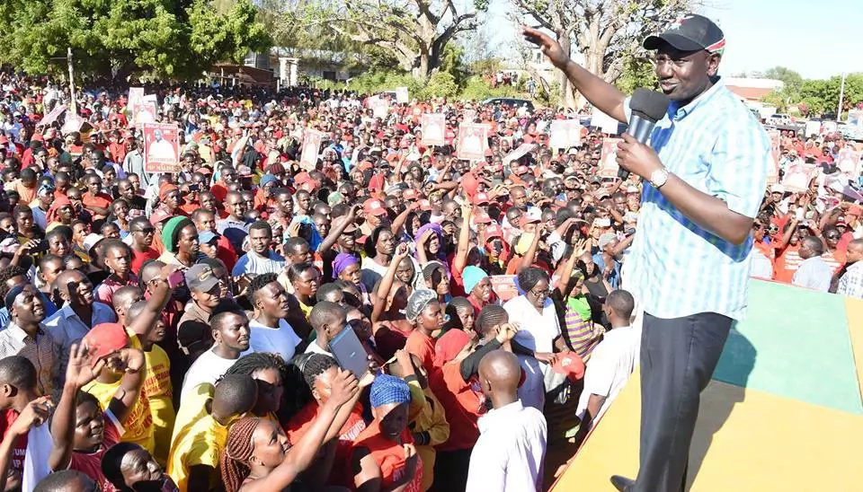 Deputy President William Ruto at a political rally.