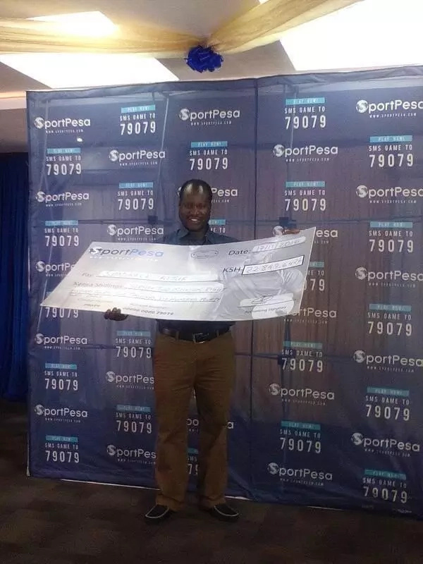 The man who has bagged himself KSh 22 million Sportpesa jackpot