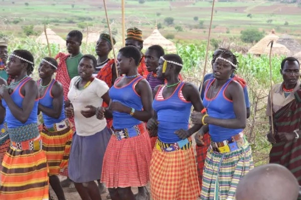 A group of women in Karamoja perform a dance. Photo: Daily Monitor