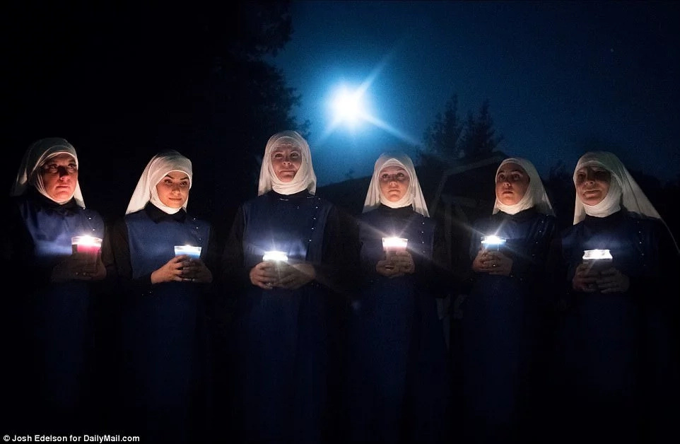 They also hold ceremonies every full moon. Photo: Daily Mail/Josh Edelson