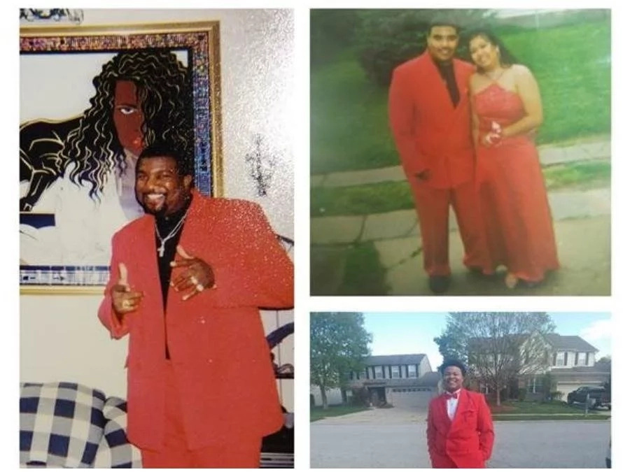 This 18-year-old teen showed up at prom party in grandfather's red suit left his friends thoroughly impressed (photos, video)