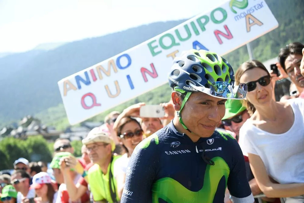 Nairo Quintana perdió más de dos minutos ante Froome