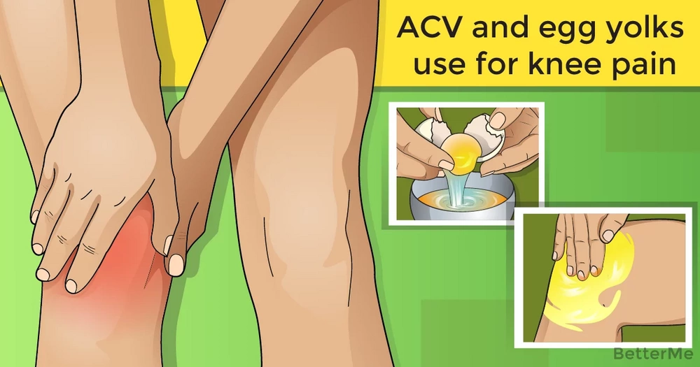 How to treat knee pain with ACV and egg yolks