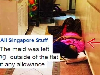 Matinding abuso! This OFW was allegedly forced to sleep on the floor of an apartment hallway while her employers were away on vacation!