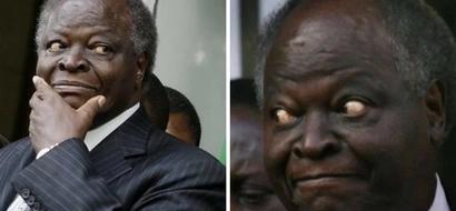 Former President Mwai Kibaki gets stranded in Kisumu, details