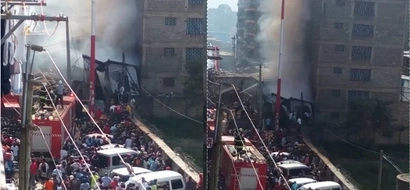 Huge fire engulfs homes, shops in Pipeline estate, Embakasi (photos)