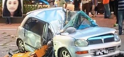 1-tonne crane hook falls on car, kills woman