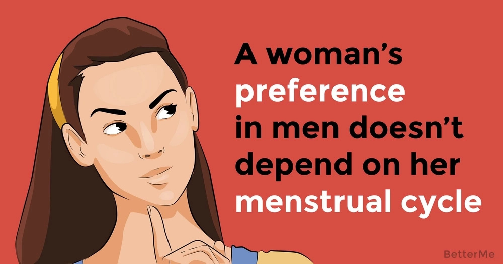 A woman's preference in men doesn't depend on her menstrual cycle