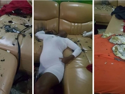 Police hurl teargas canisters into a house party in Komarock on orders from a CS' daughter... and injure a pregnant woman (photos)
