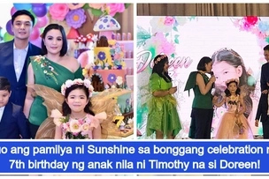 Sunshine Dizon at Timothy Tan magkasama sa bonggang 7th birthday party para sa anak nilang si Doreen