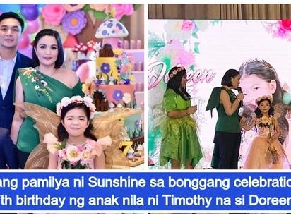 Sunshine Dizon at Timothy Tan magkasama sa bonggang 7th birthday party para sa anak nilang si Doreen
