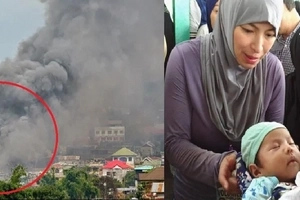 Angel Locsin captured black smoke after aistrike in Marawi! Risky and yet was bashed by many!