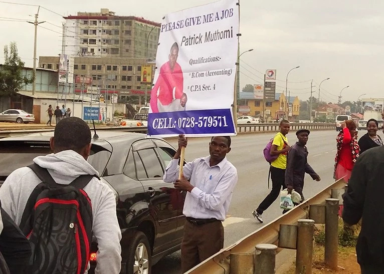Kenyans take matters in their own hands after Govt fails to create VACANCIES; forget about holding up placards in busy streets to find a job