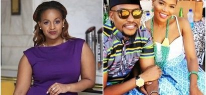 Voluptuous TV girl congratulates her baby daddy as he weds another woman