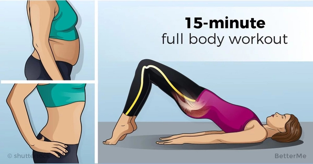 15-minute full body workout you can do anywhere