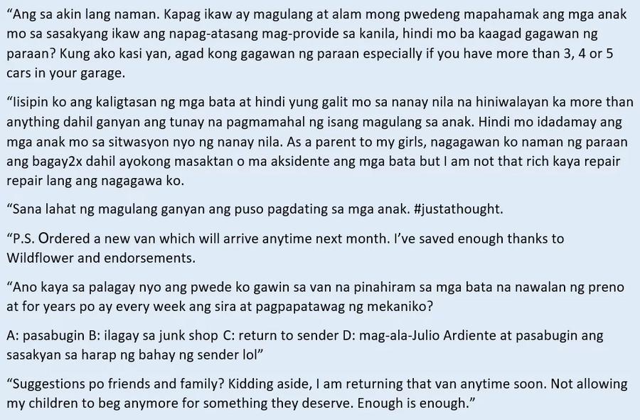 Gustong pasabugin ang van ni Cesar! Sunshine Cruz furious over Cesar Montano's alleged negligence
