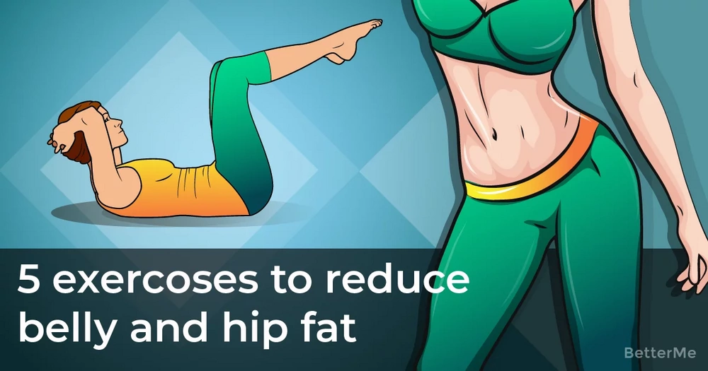 5 simple exercises to reduce belly and hip fat