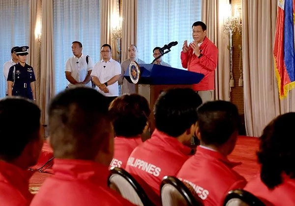 Duterte urged PH Olympians to 'try their best'