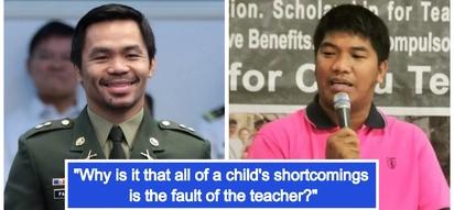 Tingin-tingin din daw sa salamin! Teachers scold Pacquiao: Don't blame us if Pinoys lack patriotism