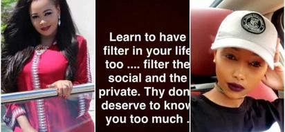 Huddah schools Vera Sidika after revealing explosive details of her troubled love life