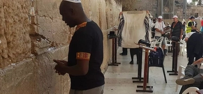 Betty Kyalo's ex-husband spotted at a famous prayer site in Jerusalem
