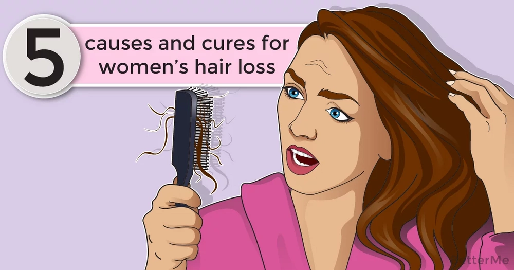 5 causes and cures for women's hair loss