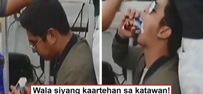 Wala siyang maraming keme! Coco Martin amazes fans as he eats like his staff while on a motorcade