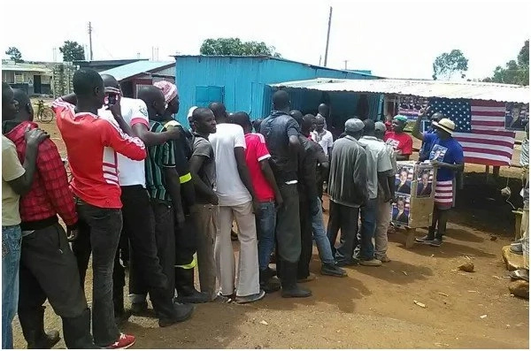 Tens turn out for US mock elections in Kogello