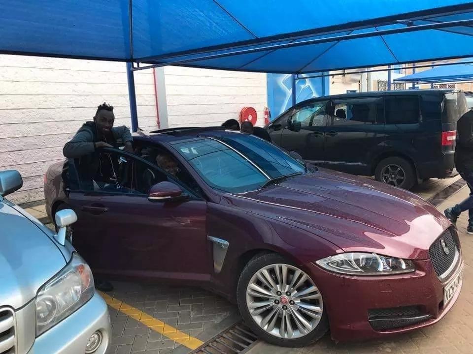 Gospel Singer Size 8's multi-million Jaguar XF .Photo: Citizendigital