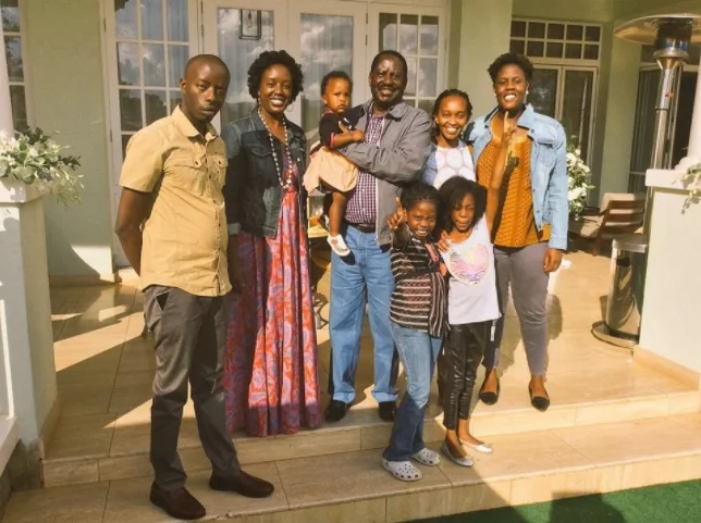Raila Odinga's grandchildren who have grown in front of our eyes